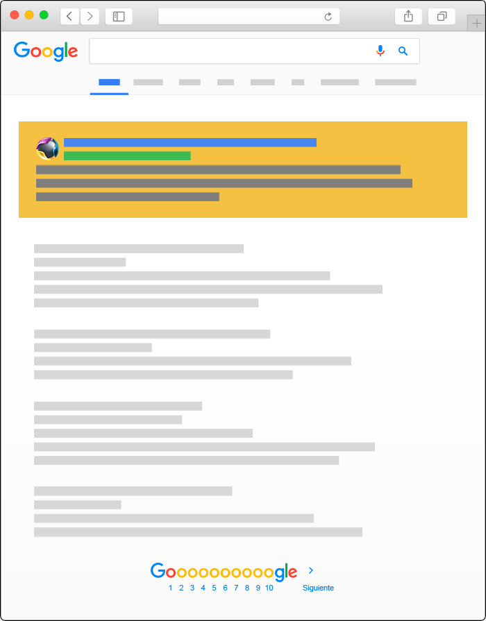 Publicidad en Google Ads - Busqueda